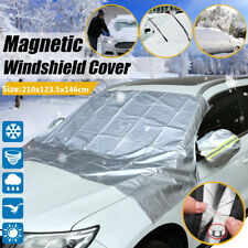 Car Magnetic Windshield Cover Snow Sun Dust Ice Frost w/ Mirror Protector