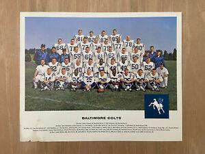 VINTAGE 1962 NFL TANG BALTIMORE COLTS FOOTBALL 8X10 TEAM PHOTO - JOHNNY UNITAS