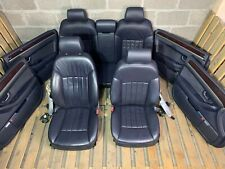 2004 AUDI A8 D3 3.0 TDI COMPLETE INTERIOR BLACK LEATHER SEATS & DOOR CARDS