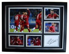 Alex Oxlade Chamberlain Signed Autograph 16x12 framed photo display Liverpool
