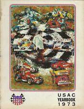 OLD VINTAGE 1973 USAC RACING YEARBOOK INDY SPRINTS MIDGETS STOCK CARS