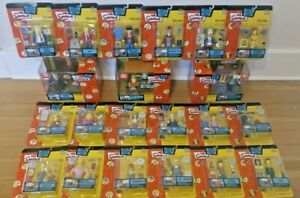 The Simpsons Playmates Series 11 12 13 Complete Sets 18 Figures + 3 Environments