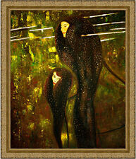 Mermaids by Gustav Klimt 85cm x 72.5cm Framed Ornate Gold