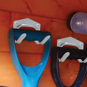 5 Pack Galvanised Tool Hooks Shed Garden Tools Garage Workshop Holder Storage