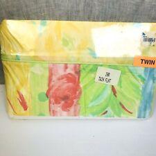 New Yellow Twin Flat Sheet Bright Multi Colors