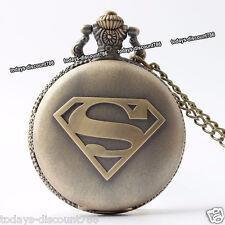SUPERMAN Pocket Watch Collana Natale Compleanno Uomo MARITO MOGLIE dad regalo per lui