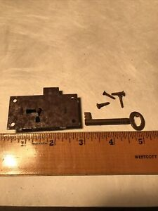Eagle Lock and Key 1900c Cupboard Wardrobe Drawer New Old Stock With Screws