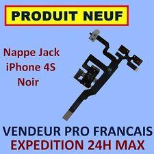 ✖ NAPPE PRISE JACK ET BOUTONS VOLUME VIBREUR POUR IPHONE 4S NOIR ✖NEUF ENVOI 24H