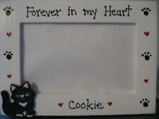 PERSONALIZED - FOREVER IN MY HEART - CAT MEMORY pet photo picture frame