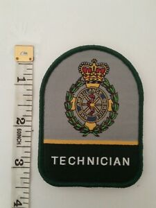 "3""Ambulance Service Technician Woven Vel Hook Backed Patch Badge"