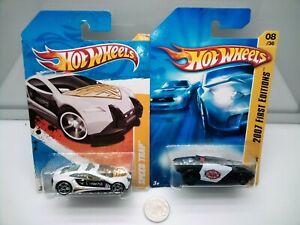 Hot Wheels / Rogue Hog - Speed Trap - Futuristic Police Cars - Model Cars x2