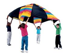 Large Play 10' foot Parachute With 12 Handles for Outdoor Activities & Sports