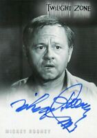 Twilight Zone 4 Science and Superstition Mickey Rooney Autograph Card A-72