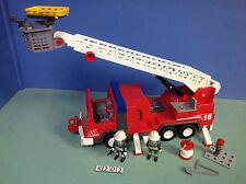 (K202) playmobil camion de pompier grande échelle ref 3182 4819