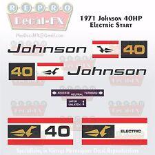 1971 Johnson 40HP Electric SeaHorse Outboard Repro 10Pc Marine Vinyl Decal 40E71