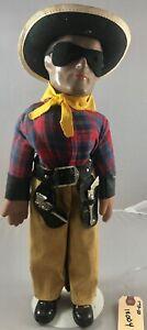"16"" Antique American Composition Lone Ranger Doll! Rare! 18004"