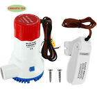 12V Electric Marine Submersible Bilge Sump Water Pump For Boat Yacht RV,1500GPH photo
