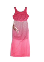 NEW Paper Doll Girls' Dress with braided belt - Fuchsia MULTIPLE SIZES