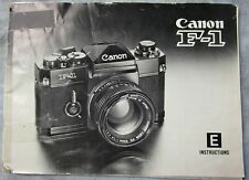 New listing Original Canon F-1 Film Camera Instruction Manual