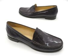 COLE HAAN Size 9 Purple Patent Leather Slip On Penny Loafer Shoes