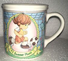 precious moments 1998 soccer mom coffee mug