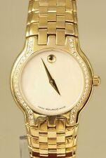 Movado Museum Diamond Bezel Ladies Quartz Watch Model 87 E4 1852