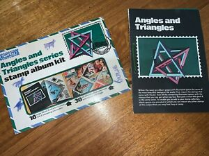 Vintage 1976 Stamps of the world - Angles and Triangles stamp album kit