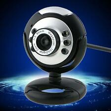 HD 12.0MP 6 LED USB Webcam Camera with Mic Night Vision for Desktop PC Laptop IR