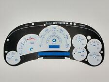 White Gauge Face Escalade Style for Duramax Diesel Silverado Sierra 03 04 05 New