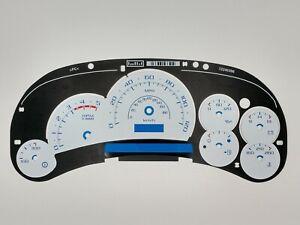 White Gauge Face Escalade Style for Silverado Sierra Duramax Diesel 03 04 05 New