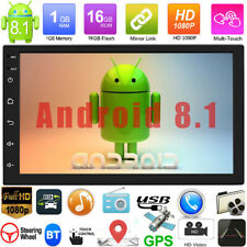 """7"""" Android 8.1 Car Stereo HD Mp5 Player Touch Screen BT Radio 2din WIFI GPS Navi"""
