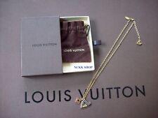 Authentic Louis Vuitton PENDANTIF Lettere d'amore collana catena colore STONE