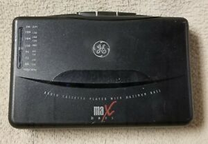 GE Personal Portable AM/FM RADIO STEREO CASSETTE PLAYER 3-5468A w/ Max Bass VGC