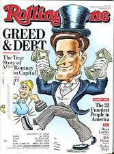Rolling Stone Magazine September 13 2012 Mitt Romney Greed & Debt EX 040116jhe