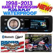 1998-2013 HARLEY WATERPROOF BLUETOOTH MP3 AUX RADIO STEREO AQUATIC AV DIGITAL