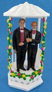 Gay Marriage Cake Topper Decoration Wedding Day LGTB Groom
