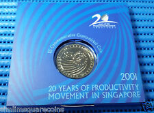 2001 Singapore 20 Years of Productivity Movement $5 Commemorative Cu-Ni Coin