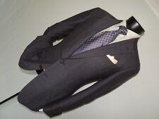 Ermenegildo Zegna Men's 100% wool Brown & Blue slim jacket coat 38 R