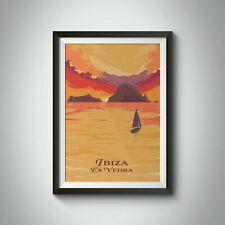 More details for ibiza es vedra travel poster - framed - vintage - bucket list prints