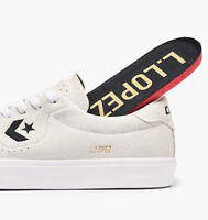 Cons Shoes Louie Lopez Pro White White Black Suede Converse Skateboard Sneakers