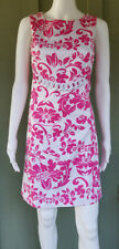 JADE Melody Tam Pink White Chain Floral Dress 4 Stretch Cotton