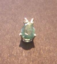 Genuine Emerald Pear Cut Sterling Silver Pendant 6 x 4mm