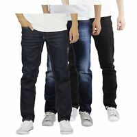 Mens Jeans Crosshatch Jaco Slim Stretch Distressed Denim Pants