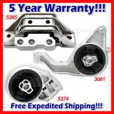 L814 For 05-10 Chevy Cobalt HHR Pontiac G5 2.2/2.4L AUTO Motor & Trans Mount 3pc