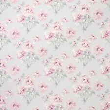 Per metre Laura Ashley Beatrice Cyclamen Fabric Pink /Grey Floral Curtain Fabric