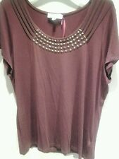 Marks and Spencers Per Una ladies women's top claret (red/burgundy) size 18 BNWT