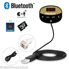 Bluetooth Wireless Fm Transmitter Receiver Car Charger Kit Mp3 Sd Usb Aux-In Led