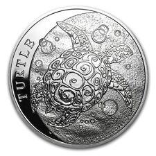 Niue 5 Dollar Silber 2 Unzen Schildkröte 2015 - 2 oz Silber Münze Turtle