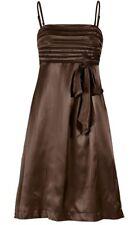 Kleid Gr. 34 Braun Satinkleid Abendkleid Partykleid Kurzes Ballkleid Neu