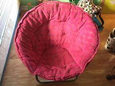 Pink Saucer Chair